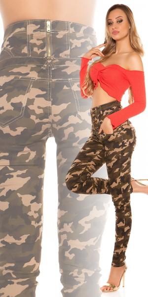 Sexy Highwaist Skinny im Military-Look