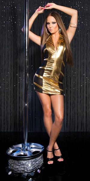 Sexy KouCla GoGo-Minikleid transparent