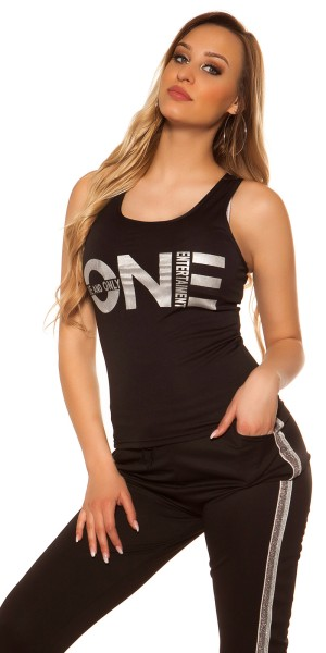 """Sexy Tanktop mit Print """"One and Only"""""""