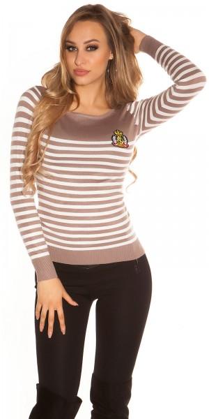 Trendy KouCla Pullover im Marine Look