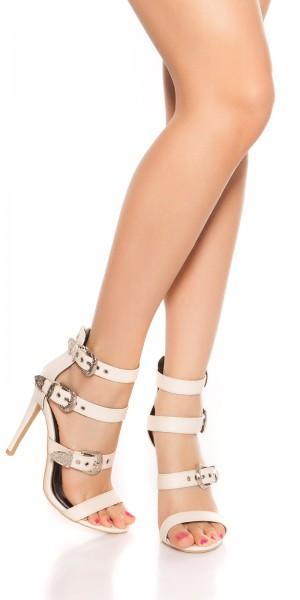 Sexy High Heel Sandalette mit Riemchen