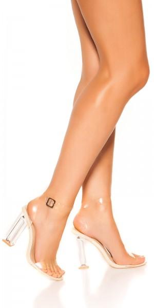 Sexy Blockabsatz Riemchen Sandalette