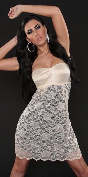 Sexy Bandeau-Dress mit Spitze