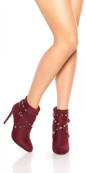 Sexy Ankle High Heels mit Schnalle + Zip