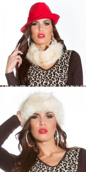 Trendy Fake Fur Stirnband/Loopschal, it s up 2u!