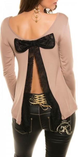 Sexy Koucla Shirt mit trendy Schleife am Rücken