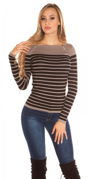 Trendy Koucla Pullover mit Reißverschlüssen
