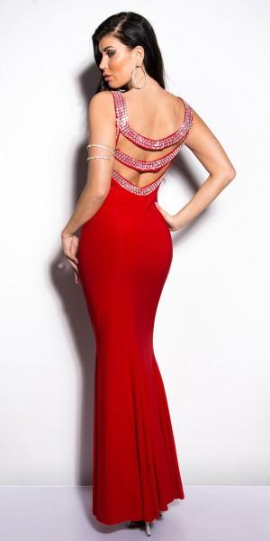 Sexy KouCla Gala- Kleid Rückenfrei mit Strass