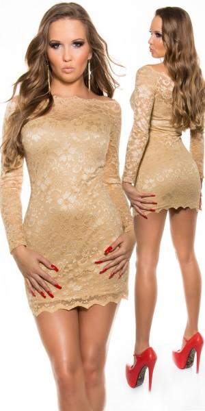 Sexy KouCla Minikleid aus Spitze mit Carmenaussch.