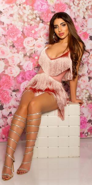 Sexy KouCla Mini dress with fringes