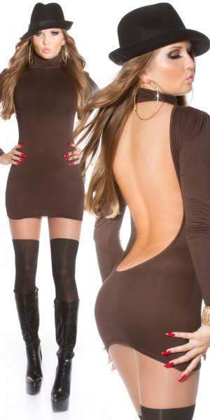 Sexy Minikleid mit Rollkragen rückenfrei!!