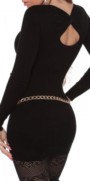 Sexy KouCla Longpulli mit Rücken-Ausschnitt