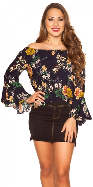 Sexy Off Shoulder Shirt mit Volant